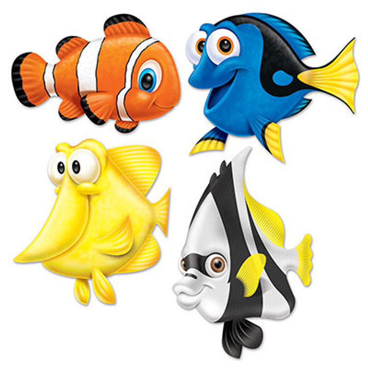 Dory Under Sea Fish Cut Outs