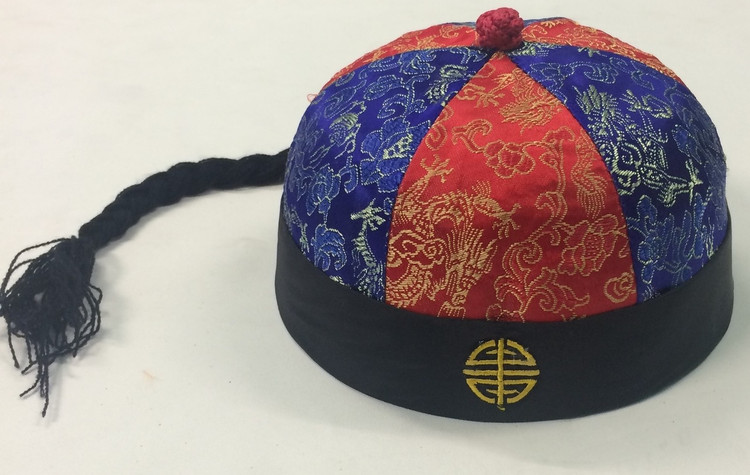 Chinese Fabric Hat with Braid