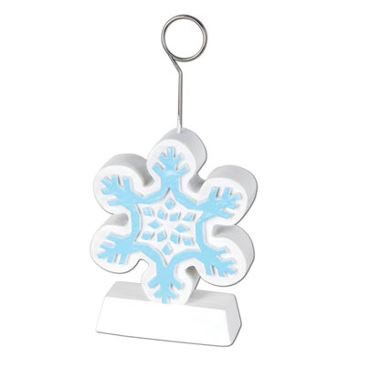 Snowflake Balloon Weight/Photo Holder