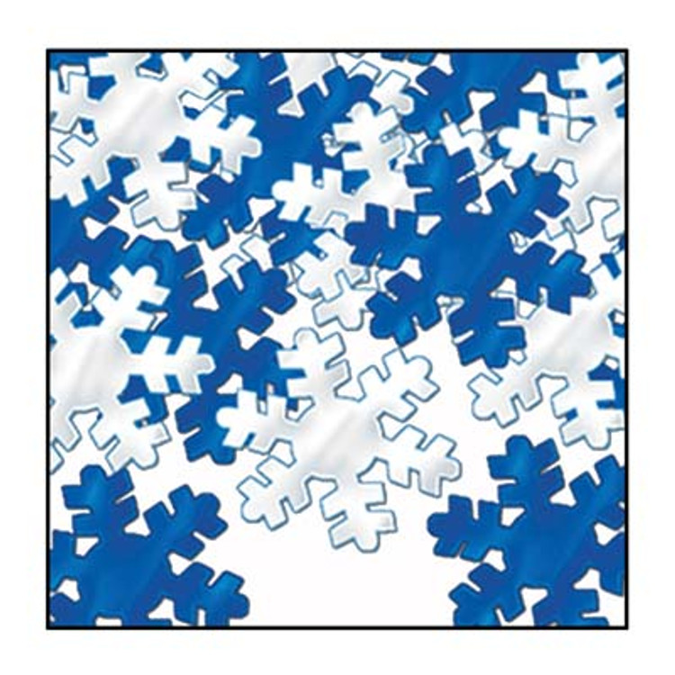 Party Scatters Snowflake Blue & Silver