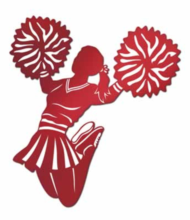 Cheerleader Foil Cut Out Red