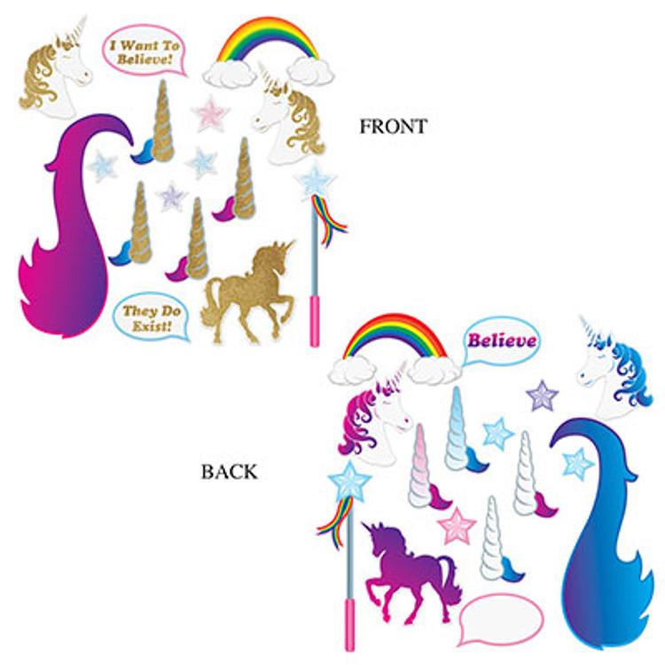 Unicorn Glittered Photo Fun Signs