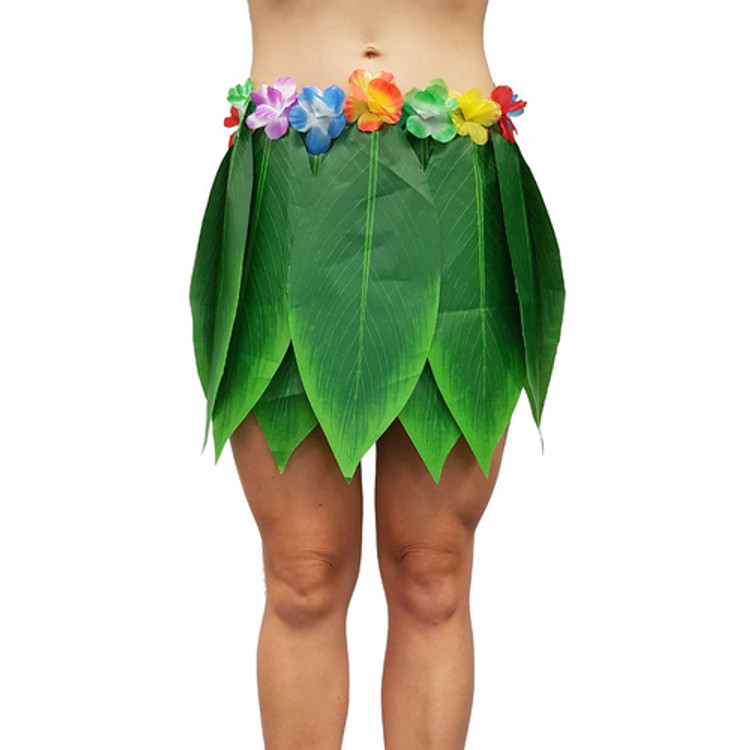 Leaf Skirt with Flowers