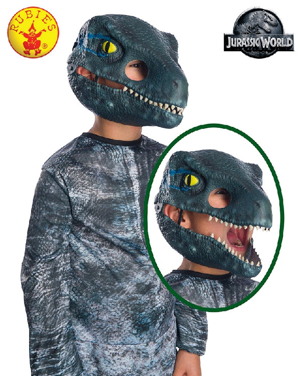 Jurassic World Velociraptor Blue Childrens Mask