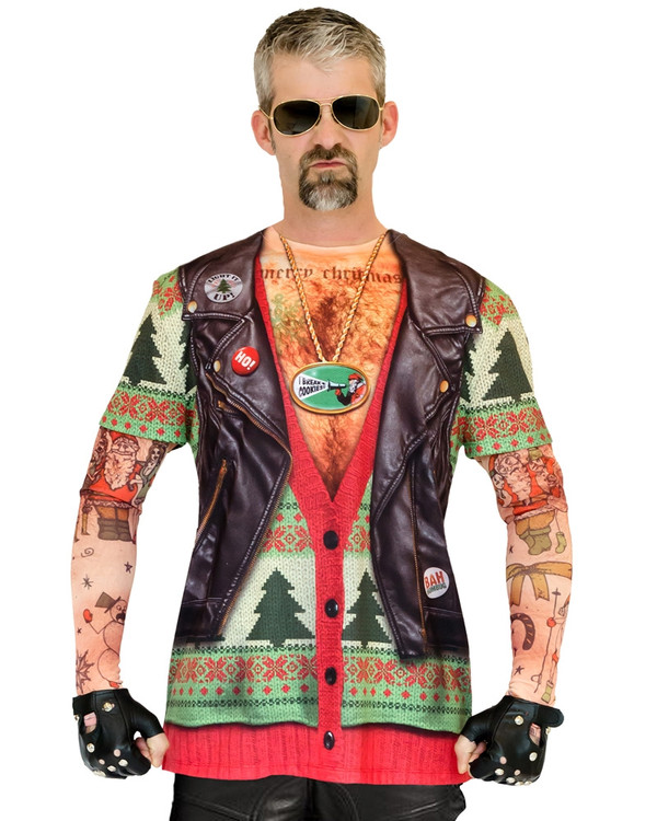 Biker Ugly Christmas Sweater