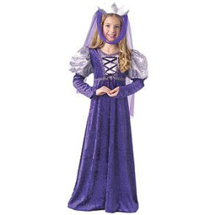 Medieval   Renaissance Queen Girls Costume