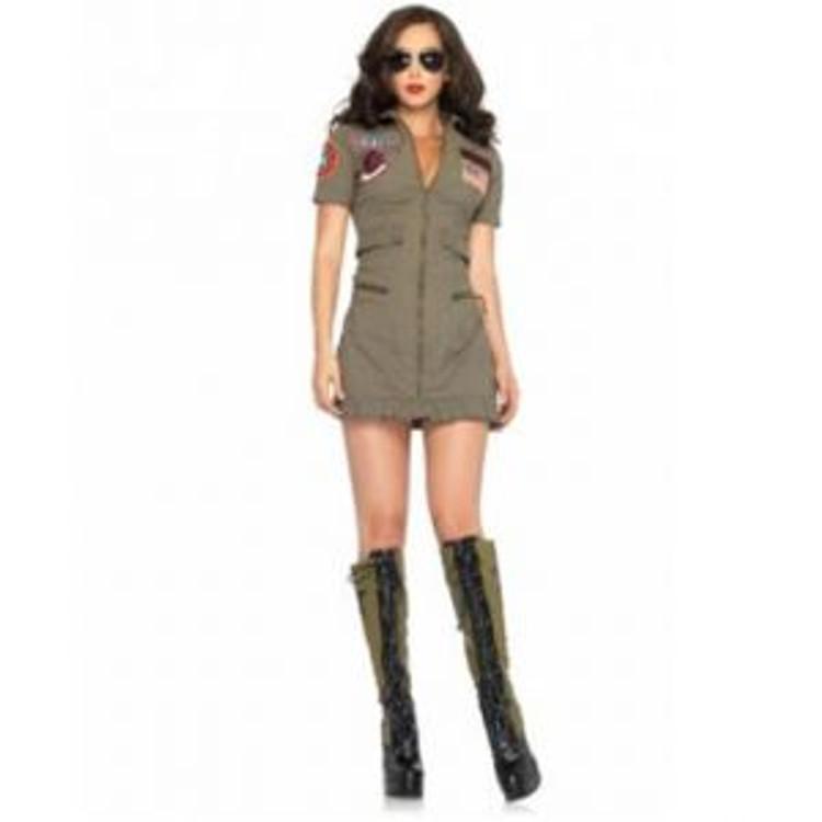 Top Gun Womens Flight Dress Costume