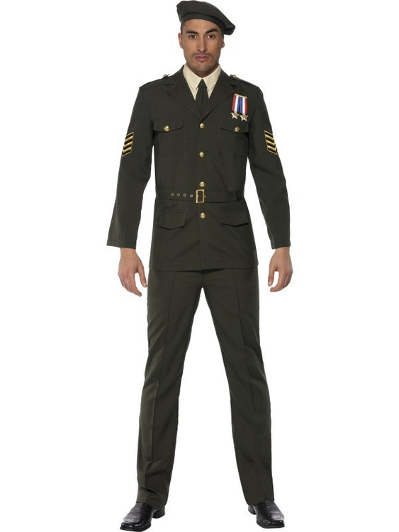 Army Wartime Officer Mens Costume