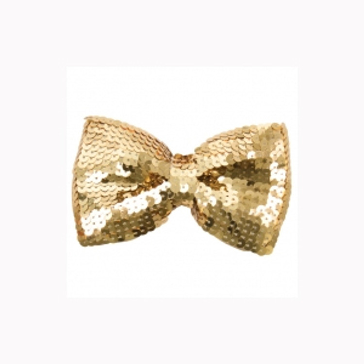 Gold Sequin Bowtie