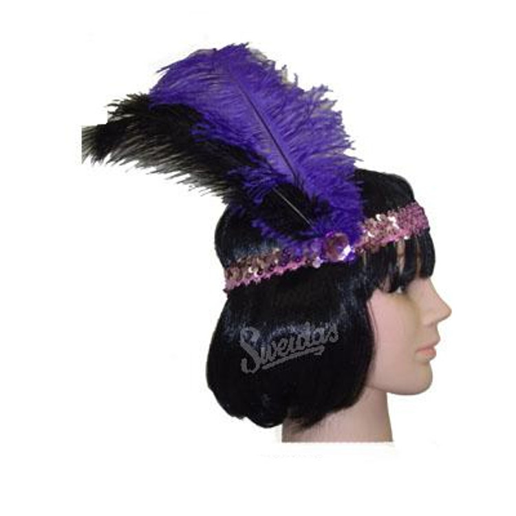 1920s Sequin Headband - Purple