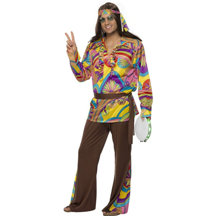60'S   70'S Psychedelic Hippie Man Costume