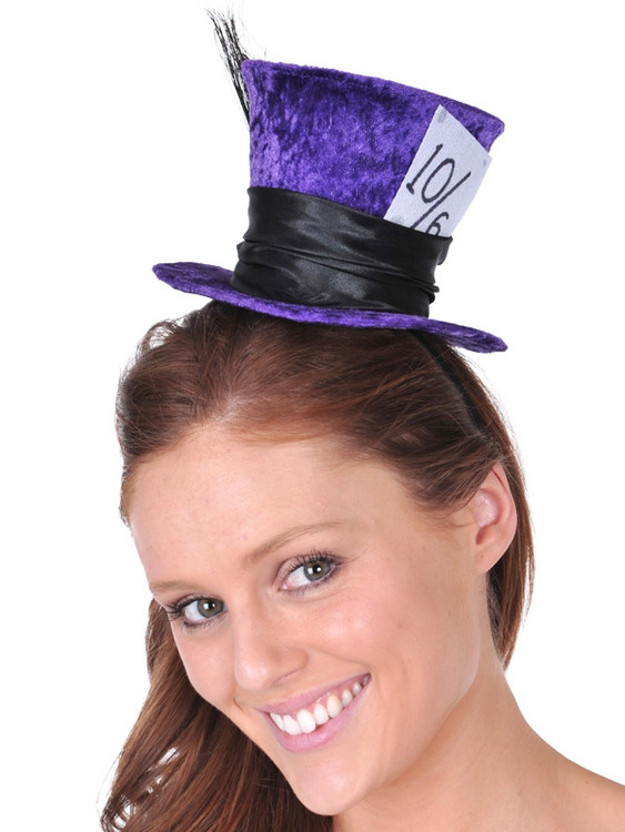 Alice in Wonderland Mad Hatter Mini Hat in Purple