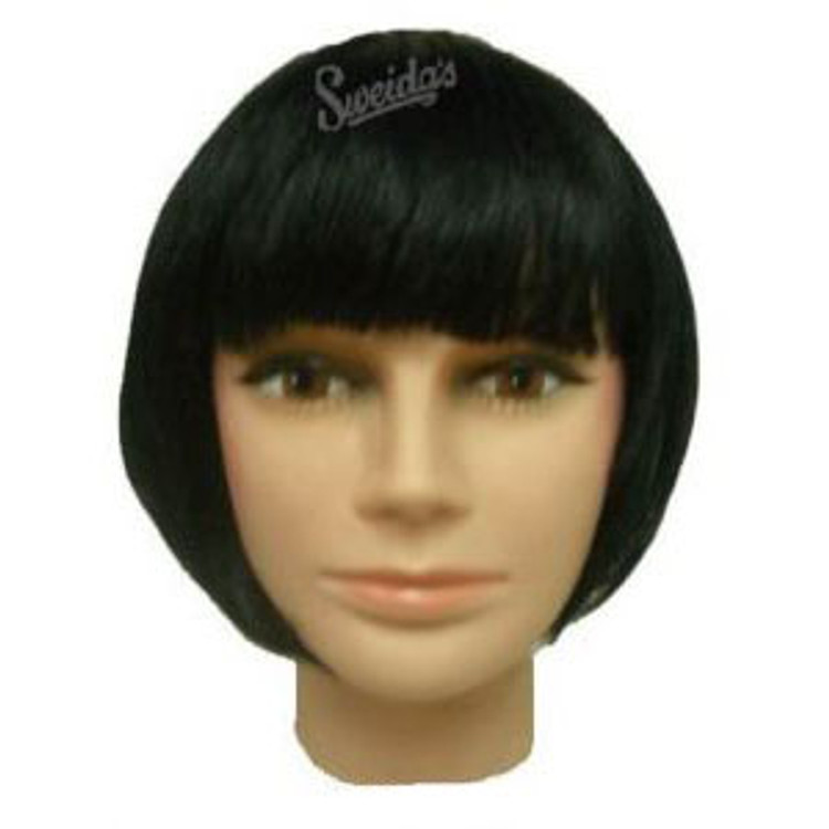 Bob wig - 1920s Short Flapper Black Womens Wig