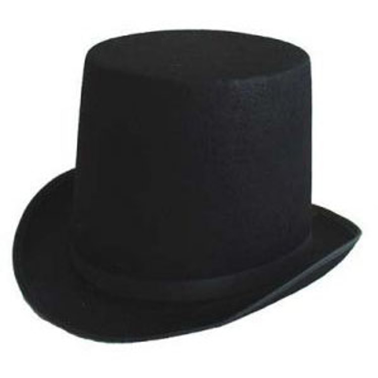 Top Hat - Lincoln - Black Feltex