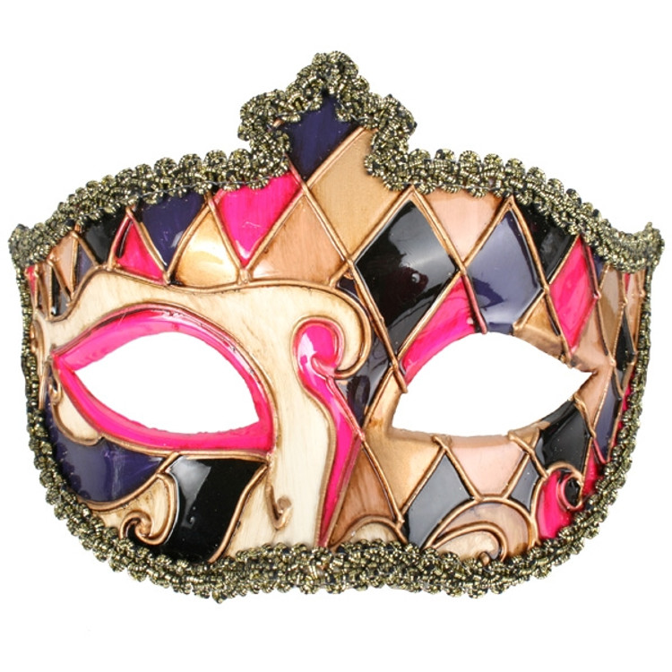 VENETIAN Gold, Pink & Purple Eye Mask