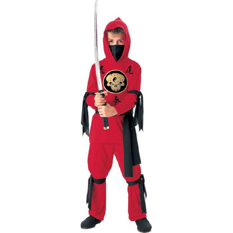 Ninja Red Boys Costume