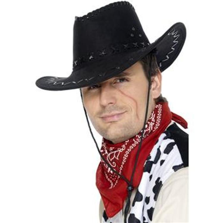 Cowboy Suede Look Hat