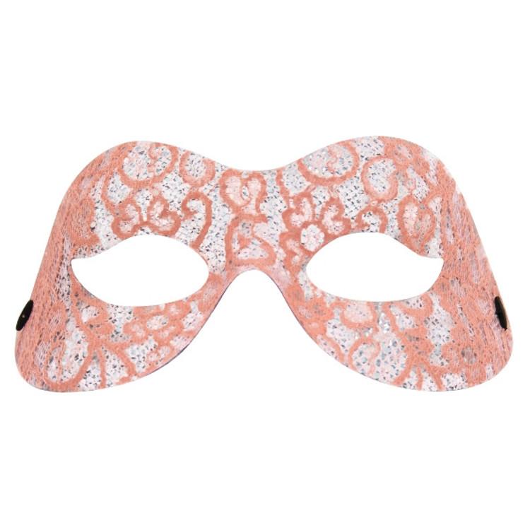 Naomi Eye Mask - Lacey Pink Design