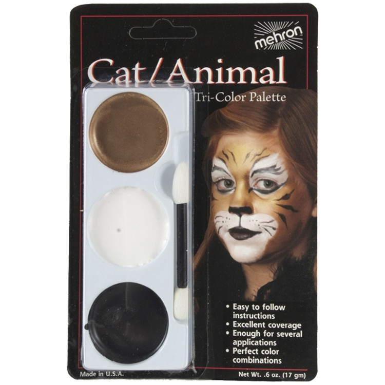 Tri-Colour Make-up Palette - Cat Tiger