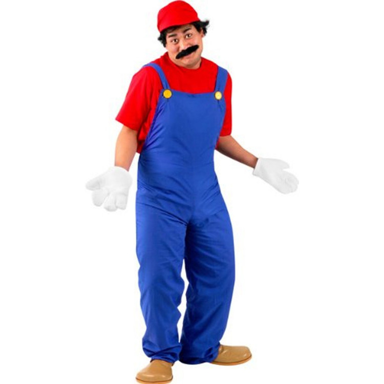 Super M Plumber Adult Mens Costumes - Mario