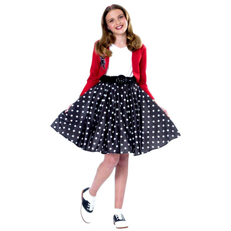 Polka Dot 50's Rocker Girls Costume
