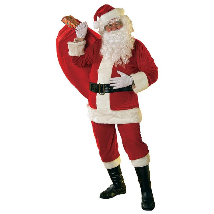 Santa Adult Velour Santa Suit