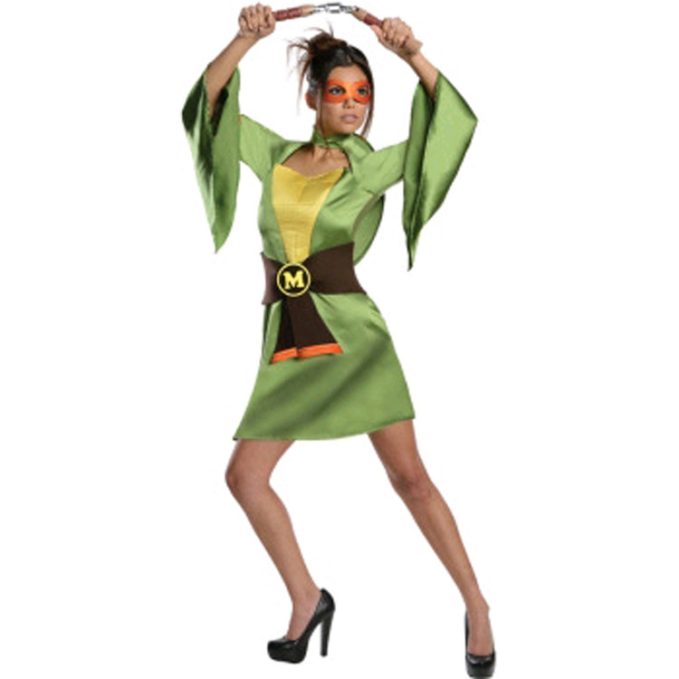 Teenage Mutant Ninja Turtles - Michelangelo Kimono Womens Costume