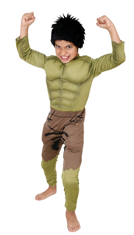 Hulk The Avengers Kids Muscle Costume