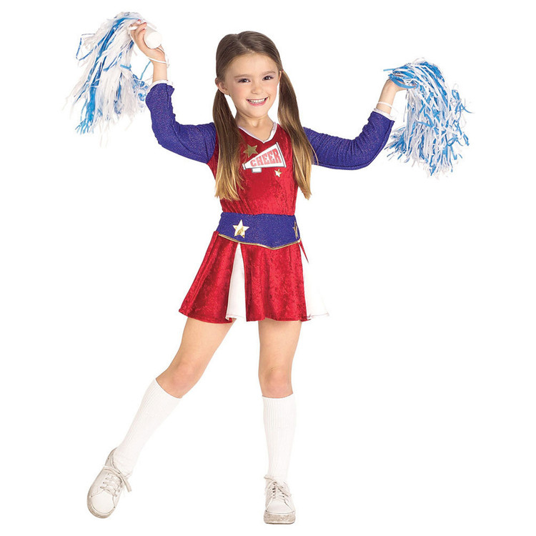 Cheerleader Retro Girls Costume