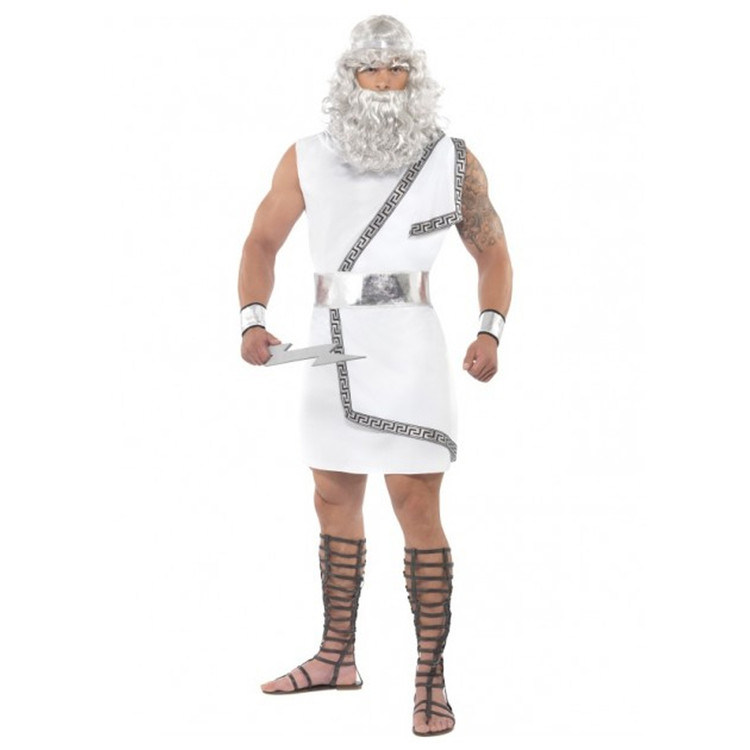 Roman/Greek Zeus Toga Mens Costume