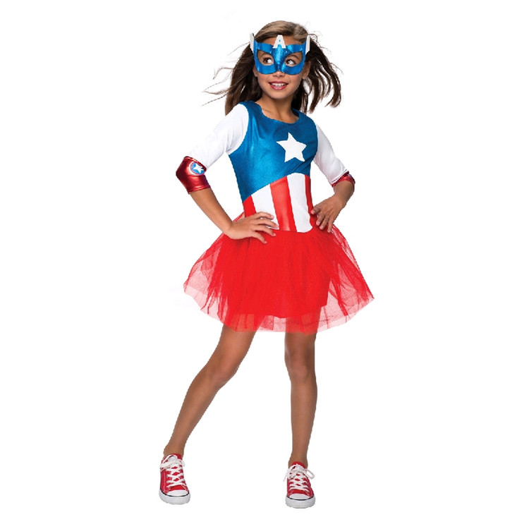 Captain America - Metallic Girls Costume