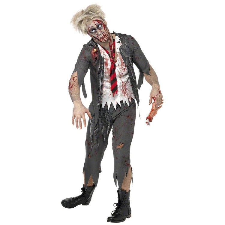 High School Horror Zombie School Boy Mens Costume