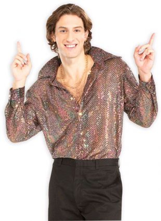 1970's Disco Shirt Mens Costume