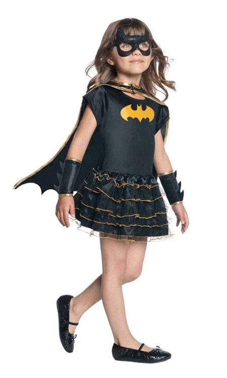 BATGIRL RUFFLE TUTU DRESS UP SET - 4-6 years