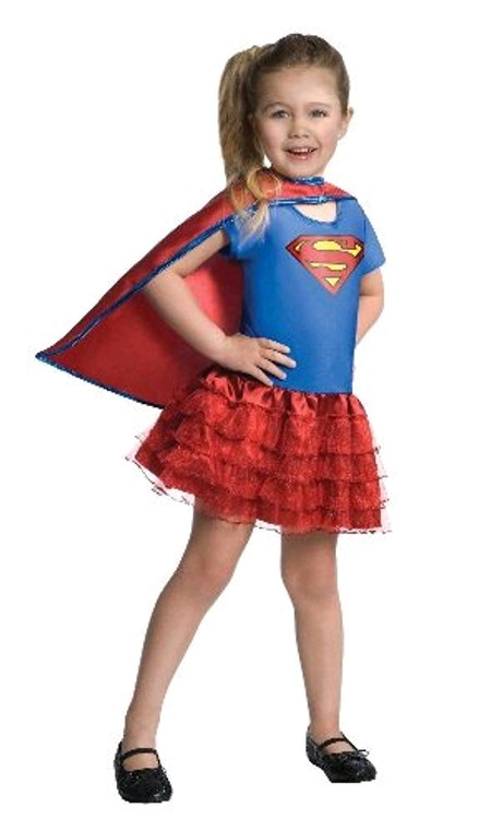 SUPERGIRL RUFFLE TUTU DRESS UP SET - 4-6