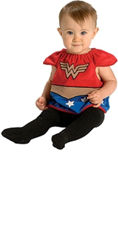 WONDER WOMAN DLX BIB - SIZE NEWBORN
