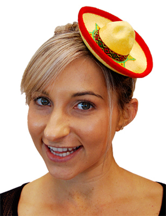 Mini Mexican Sombrero Hat - Yellow