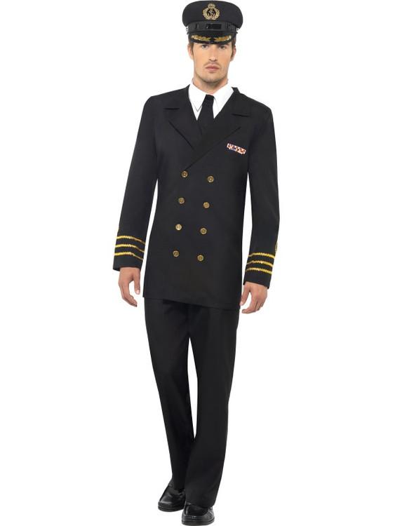 Navy Officer Men's Costume