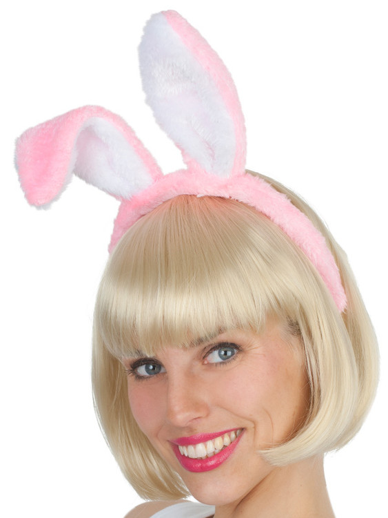 Bunny Ears Pink with White