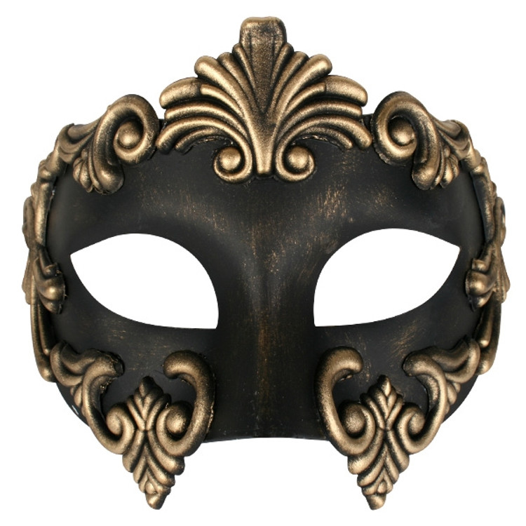 Lorenzo Black  & Gold Eye Mask
