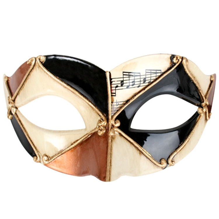Pietro Gold & Black Eye Mask