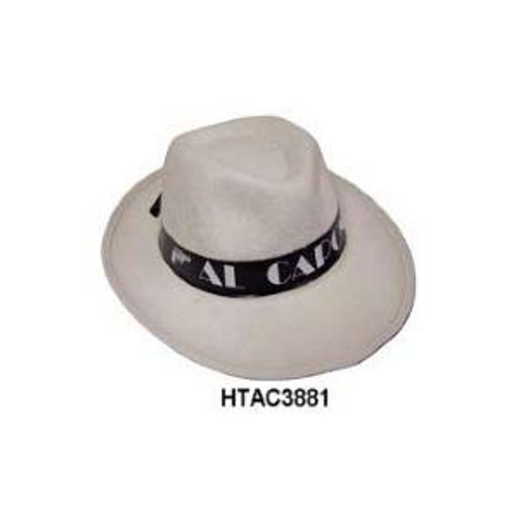 Fedora - Gangster Hat - Al Capone White Feltex