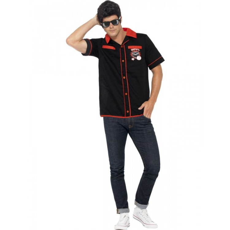 1950s Bowling Shirt Mens Costume