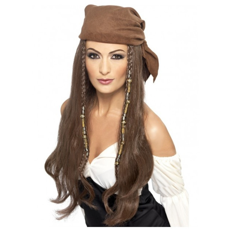 Pirate Brown Womens Wig