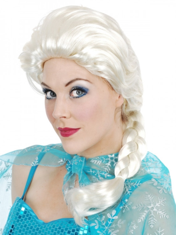 Elsa Frozen White Plait Wig