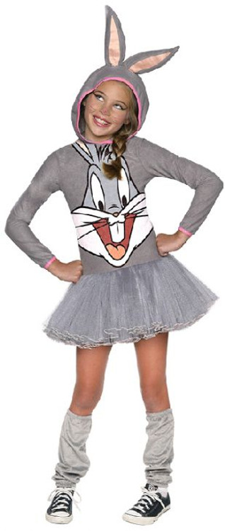 Looney Tunes - Bugs Bunny Hooded Girls Costume