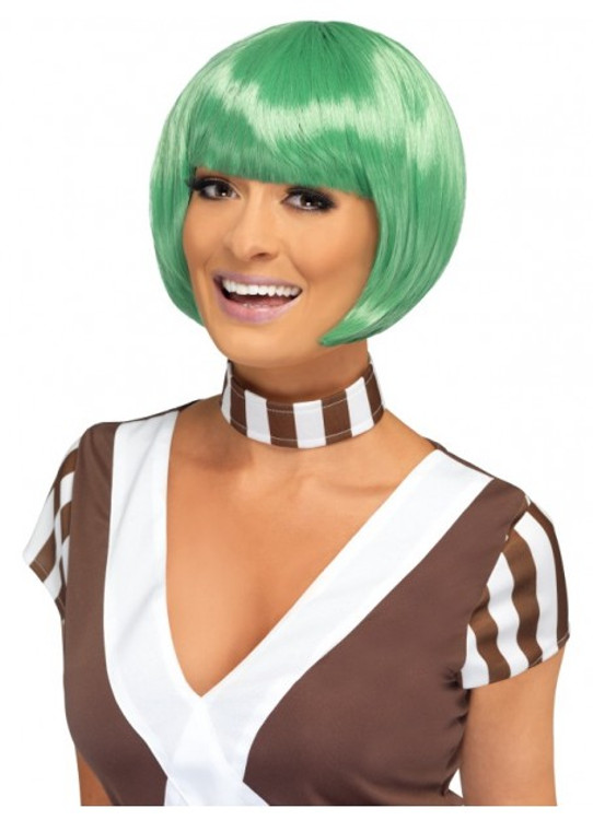 Willy Wonka - Oompa Loompa Candy Creator Green Bob Wig