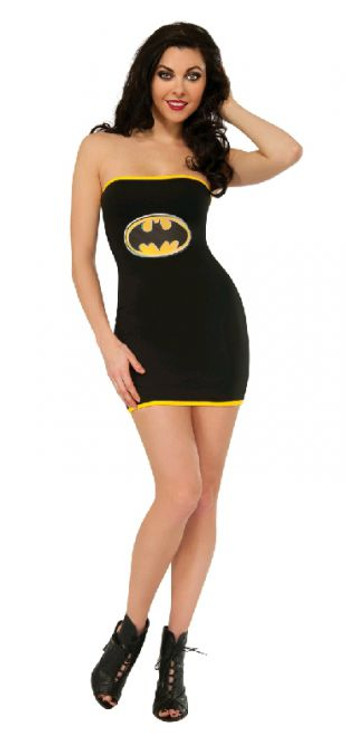 Batgirl Tube Dress Women's Costume
