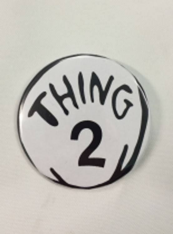 Dr. Seuss Cat in the Hat - Thing 2 Badge