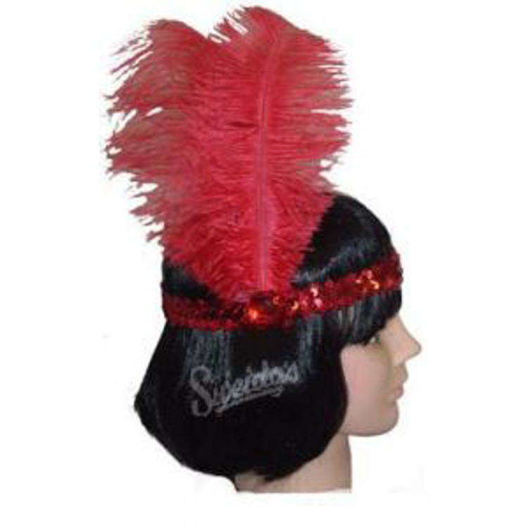1920s Sequin Headband - Red